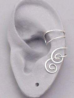 Sterling Ear Cuff Pair  ENTWINED  Handcrafted by SunnySkiesStudio, $34.95