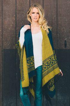 country border trim tassel ruana wrap leto wholesale poncho reversible gift ideas women accessories transitional fall winter women fashion