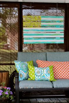 Never would have thought to paint the flag in your porch décor color scheme...clever!