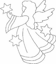 Afbeeldingsresultaat Voor Christmas Angel Line Drawing