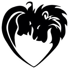 Tattoo idea I have had for a while. Lions in a shape of a heart. A king can only kneel to his queen. I love the symbolism.