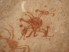 Pinturas rupestres da Serra da Capivara, no Piauí.