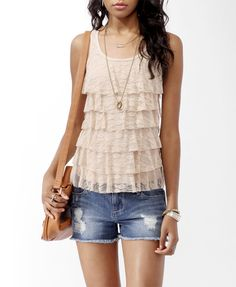 Tiered Lace Tank | FOREVER21 - 2062098576 $39