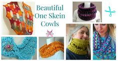 One Skein Cowl crochet patterns If you are in need of a gorgeous and quick project to complete an outfit, you are sure to find something in these One Skein Cowl crochet patterns. Not only will you find different textures, but some really different styles that will surprise you. Try them out! Be sur