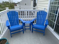 Nautical 3-Piece Curveback Adirondack Set by POLYWOOD® Adirondack Chairs, Outdoor Chairs, Outdoor Furniture, Outdoor Decor, Homemade Bleach, Table And Chairs, 3 Piece, Nautical, Relax