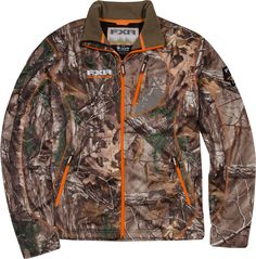 FXR Racing - Snowmobile Gear - Men's Elevation Full-Zip Fleece - Realtree Xtra
