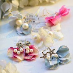 韩国进口正品热卖日本单海星钻饰棉珍珠花瓣层叠耳钉/耳环KE5477-淘宝网