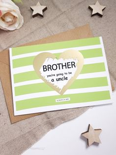 Pregnancy announcement card for brother mum husband dad sister aunty uncle brother Oven in the Bun Baby Shower new mum to be baby shower new baby card PA94