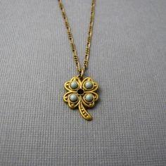 blue clover necklace