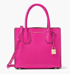 2b21066735 NWT Authentic Michael Kors Leather Mercer Medium Messenger Crossbody Purse  Bag