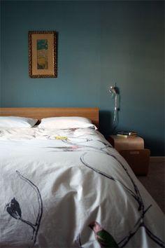more of benjamin moore blue echo-Den Benjamin Moore Kitchen, Benjamin Moore Blue, Office Paint Colors, Blue Paint Colors, Colours, Design Your Bedroom, Room Interior Design, Bedroom Art, Diy Bedroom Decor