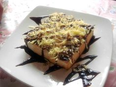 Roti Bakar, Bread Toasted with cheese and chocolate