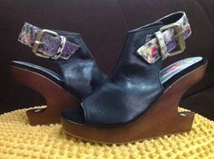 Wedges with mahoni and cow snake leather strap, my limited design.. SALE 785K