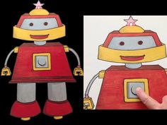 How to Build a Light Up Robot with Paper Circuits