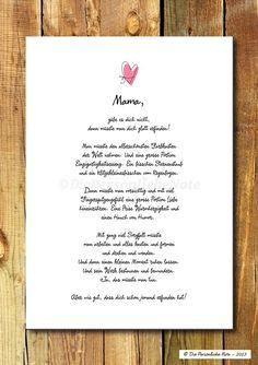 Digitaldruck - Druck/Print: Liebeserklärung - Mama, Freundin, .. - ein Designerstück von DiePersoenlicheNote bei DaWanda