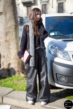 Milan Fashion Week FW 2014 Street Style: Chiara Totire
