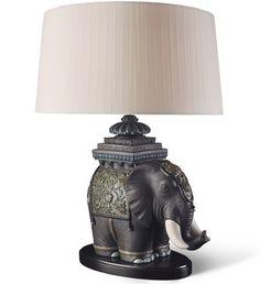 01023088 SIAMESE ELEPHANT - LAMP (CE) Issue Year: 2013 Sculptor: Antonio Ballester Size: 70x50 cm