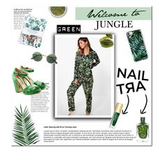 """Green Nail Art 💚"" by w-wildroses-s ❤ liked on Polyvore featuring beauty, Boohoo, Casetify, Emi Jewellery, Nika, Nikki Strange, Rupert Sanderson and Yves Saint Laurent"