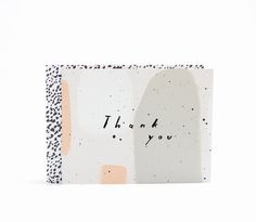 Speckled Thank You Card From Moglea