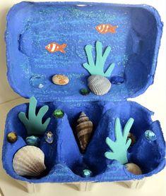 Cool DIY Egg Carton Crafts cool crafts for kids diy - Kids Crafts Beach Crafts For Kids, Fun Crafts For Kids, Summer Crafts, Toddler Crafts, Projects For Kids, Diy For Kids, Arts And Crafts, Recycled Crafts Kids, Beach Kids