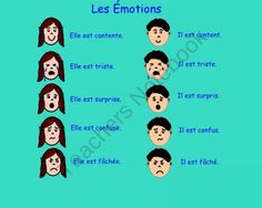Les Émotions (Smart Notebook Interactive File With Sound) Core French from… Core French, French Class, French Lessons, French Teacher, Teaching French, French Websites, Ontario Curriculum, French Resources, Teacher Notebook