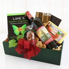 Organic Wine Gift Box. See more at www.pro-gift-baskets.com!