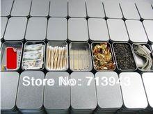 Koko: 94x59x21mm hopea suorakaide tina laatikko / plain metallinen laatikko / pieni tina laatikko / minttu tina laatikko ilman painatusta (Kiina (Manner))