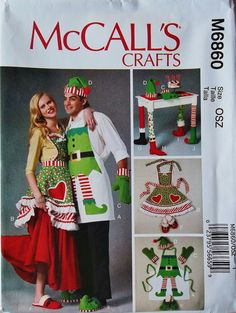Holiday Aprons Pattern Holiday Slippers Pattern Holiday by blue510, $4.00