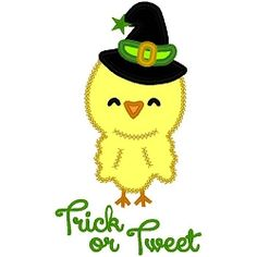 Trick or Tweet Applique - 3 Sizes!   Halloween   Machine Embroidery Designs   SWAKembroidery.com Band to Bow