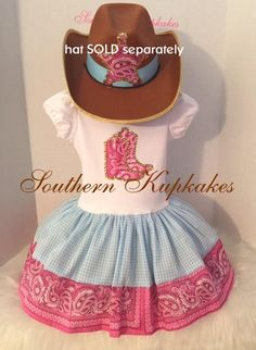 6191bb108aa WESTERN WEAR Cowgirl Country CUSTOM made Pageant Birthday Twirl dress and  Matching Hair Bow Cowboy Farm Party Horse Pony Boot Boots Gingham