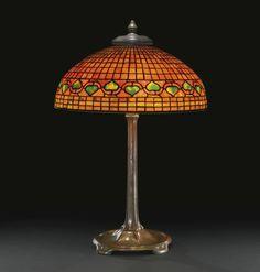 "TIFFANY STUDIOS ""VINE BORDER"" TABLE LAMP circa 1910"