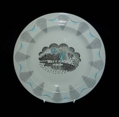 Eric Ravilious 7 inch Travel Side Plate by mayavenuedotcodotuk