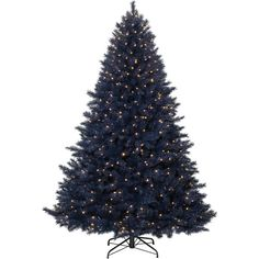 Navy Blue Christmas Tree ($158) ❤ liked on Polyvore featuring home, home decor, holiday decorations, navy blue home accessories, navy home decor and navy blue home decor