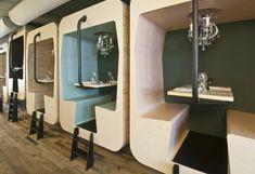 Holz Ess - Stand Design Il Treno von Tjep - von altem Zugabteil inspiriert  - #Möbel