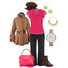 """Denim and pink lace"" by maria-kuroshchepova on Polyvore"