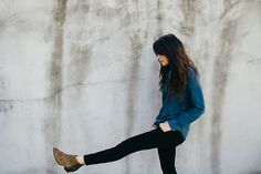 Chambray, skinny black pant, putty-colored booties (need some). So simple, classic, put together, comfortable, and every-day.