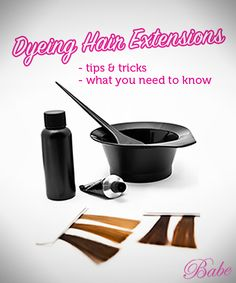 Dyeing hair extensions