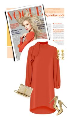 """Effortlessly Classy"" by luvsassyselfie ❤ liked on Polyvore featuring Yves Saint Laurent, Michael Antonio, gold and orange"