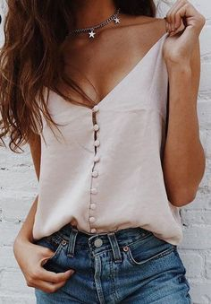 Satin Cropped Top  Looking for more blush pink fashion & street style ideas? Check out my board: Blush Pink Street Style by @aureliansupply  Street Style // Fashion // Spring Outfit // Style Ideas