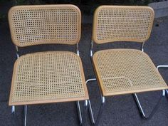 2 Marcel Breuer Cesca Side Chair Mid Century Modern Retro- Made in Italy