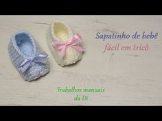 Easy Baby Booties in Knitting Knitting Stitches, Knitting Patterns, Tricot Baby, Baby Girl Gift Sets, Baby Booties Knitting Pattern, Crochet Flowers, Headbands, Knit Crochet, Projects To Try