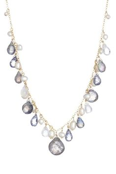 Candela Jewelry  Freshwater Pearl, Labradorite, Iolite & Moonstone Necklace