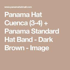 Panama Hat Cuenca (3-4) + Panama Standard Hat  Band - Dark Brown - Image