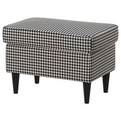 IKEA - STRANDMON, Footstool, Vibberbo black/beige, Works as an extra seat or footstool. The frame has a limited warranty. Read about the terms in the limited warranty brochure.
