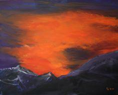 80 x 100 cm, Öl auf Lw, www.roswitha-schablauer.at Sunset Art, Saatchi Online, Saatchi Art, Original Paintings, Art Prints, Canvas, Artist, Landscapes, Reading
