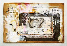 imagine and believe (czekoczyna) Tags: scrapbooking mixedmedia prima paints artjournal oldbook primamarketing czekoczyna kasiakrzymiska