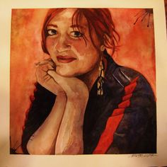 "Watercolor painting, ""Holly Gunn"""