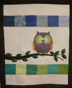Quilt Pattern My Happy Owl Raw Edge Fusible by KatiesQuiltsNCrafts, $6.50