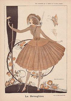 Umberto Brunelleschi 1917 La Bersaglière, Huntress, Butterfly
