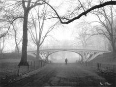 Gothic Bridge, Central Park, New York by Henri Silberman #travel  *